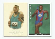 Carl Lewis 2 Card Lot (2015 Goudey/2006 Allen & Ginter) (Track & Field) (NM)