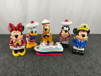Lot of 6 Disney Cruise Themed Mickey Mouse & Friends Squeeze Pool Bath Tub Toys
