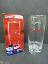 NEW BUDWEISER BMW WILLIAMS F1 TEAM RACING BEER PUB BAR COLLECTOR BUD PINT GLASS
