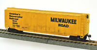 HO Scale Bachmann Milwaukee Road 50' Plug Door Box Car #56500 w/Kadee Couplers