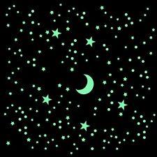 365 Leuchtsterne nachleuchtend Top-set selbstklebende Sterne punkte Mond