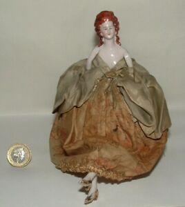 Antique German Half Doll Pin Cushion Legs Arms Away