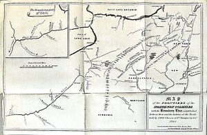 ANTIQUE 1850 INDIAN TERRITORY MAP Frontiers Northern Colonies New Jersey Ohio NY