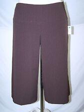 Take A Seat Brown Gaucho Dress Pinstripe Shorts Womens Size 10 Medium