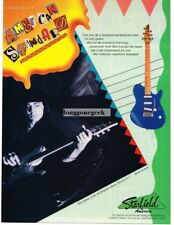 1992 Starfield Cabriolet American Standard guitar Richie Kotzen Vtg Print Ad
