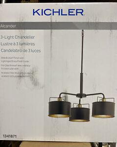 Kichler Alcander Olde Bronze Transitional Drum Pendant Light