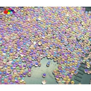 New 100000pcs Glass Khaki bright AB Micro Beads small No Hole 0.6-0.8mm Nail Art