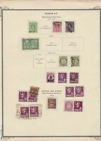 norway early stamps  on album page ref r11431