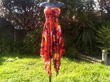 NEW ARRIVAL Handmade,  Jamaica Palm Tree/ Sun Set HankyChief dress...One Size.