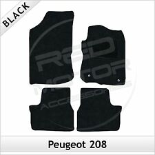 Peugeot 208 2012 onwards Fully Tailored Fitted Carpet Car Mats BLACK