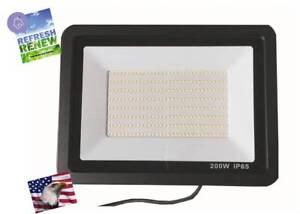 iLett 200 Watts LED Flood  Light 110V 16000lm Ultra Slim Cold White IP65 6500K