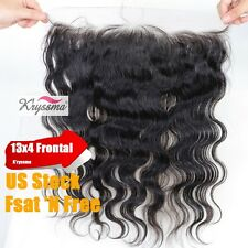 """7A Lace Frontal Brazilian Virgin Remy Human Hair Body Wave Lace Closures 13x4"""""""