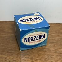 Vintage Noxzema Box Only Blue Box 10 oz Used Beat Up Noxell Skin Cream BOX ONLY