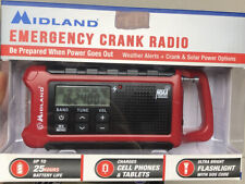 Midland Emergency Crank Radio Red Naoo Weather Solar Battery Phone Charger