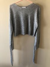 HELMUT LANG Wool/Nylon Blend Cropped Sweater Size S
