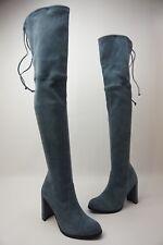 Stuart Weitzman Hiline Denim Light Blue Suede Over The Knee OTK Boots Size 6.5 M