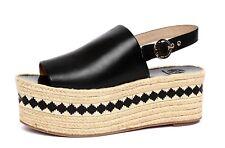 Tory Burch Dandy Women's Black Espadrille Platform Slingback Sandals Sz 10M 4665