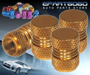 Aluminum Gold Anodized Wheel Valve Stem Valve Caps For Lexus Tires/Rims