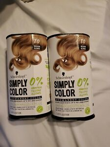 2 Schwarzkopf Simply Color 0 %Amonia free Permanent Hair Color 8.0 Medium Blonde
