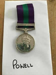 RARE General Service Medal Palestine 1945-48 to a BOY Serving With 17/21 Lancers