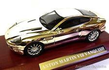 Aston Martin V12 plata 1/43  miniatura maqueta coche metal ixo altaya diecast