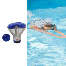 Swimming Pool Spa Chemical Dispenser Floating Auto Applicator w/Thermometer