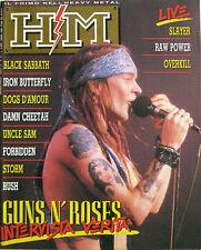 HM 61 1989 Guns N'Roses Dogs D'Amour Rush Cheetah Forbidden Slayer Raw Power