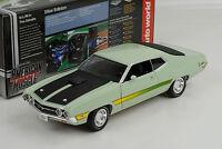 1971 Ford Torino Cobra mint green  American Muscle  1:18 Auto world Ertl
