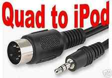QUAD TO 3.5mm. IPOD CABLE - PLAY MP3 THRU' QUAD AMPS
