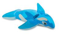 INTEX AUFBLASBARER Reittier Kleiner Blauer Wal, 152 x 114 cm Schwimmen Wasser