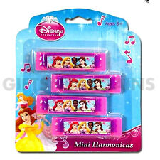 Disney Princess Birthday Party Favours 4pc Harmonica Musical toys girls gift