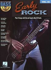 EARLY ROCK Learn to Play Beach Boys Elvis BASS Guitar TAB Music Book &CD