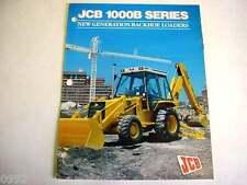 JCB 1000B Series Tractor Loader Backhoe 6 Pages,1991 Brochure        #