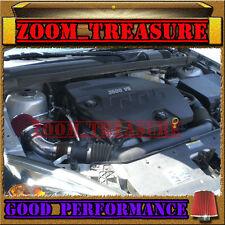 BLACK RED 2007-2009/07 08 09 SATURN AURA 3.5 3.5L/3.6 3.6L V6 AIR INTAKE KIT S