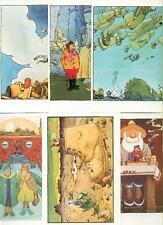 Moebius Gir 6 CP Carte Postale Eram dessin inédit Série Complèt Gentiane 83 NEUF
