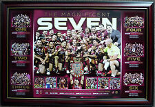 QUEENSLAND Maroons 2012 State of Origin 7 in a Row Limited Edition Print Framed
