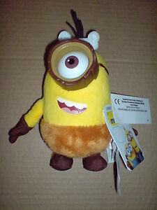 MINIONS MOVIE - DELUXE PLUSH BUDDIES -16CM CRO WITH PVC GLASSES SOFT TOY NEW V#4