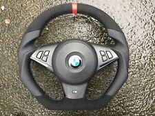 BMW M5 M6 E60 E61 E63 E64 PRE LCI NEW CUSTOM MADE FLAT BOTTOM  STEERING WHEEL