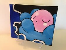 Clamperl Pokemon Oil on Canvas Painting OOAK Video game Anime Manga 8 x 10