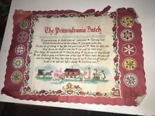 Vintage Pennsylvania Restaurants Place Mat 1960 Has Wear