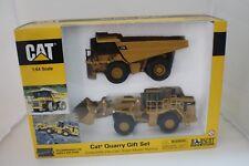 1-64 Caterpillar Quarry Gift Set 775E off Hwy Truck +988G Wheel Loader #55103