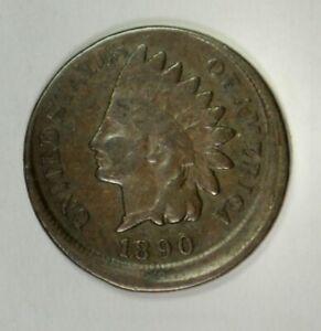 1890 Indian Cent – Mint Error – Struck 10% Off Center at K-12