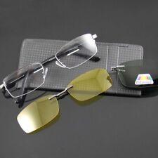 Sun Glasses Eyeglasses Metal Frame Optical Polarized Sunglasses Clip-on AntiUV