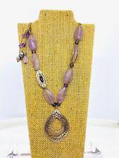Vintage Silpada 925 Sterling Silver Amethyst & Tahitian Pearl Necklace