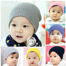 Bébé unisexe Bébé garçon / fille Bonnet en coton doux Bonnet en tricot d'hiver