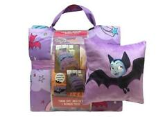 Vampirina 2 6PC Reversible Twin Bed In Bag Set & Decorative Pillow  *New*