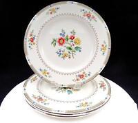 "ROYAL DOULTON #TC115 KINGSWOOD FLOWERS & LAUREL 4 PIECE 10 5/8"" DINNER PLATES"
