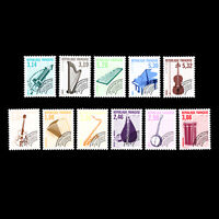 France 1991 - Musical Instruments - Pre-cancelled - Sc 2273/83 MNH