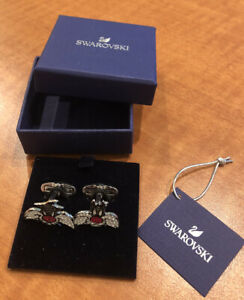 NEW In Box Authentic Swarovski Crystals Looney Tunes Sylvester The Cat Cufflinks