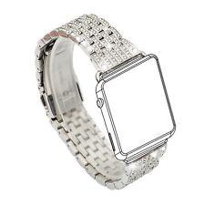 Women's Apple Watch Band Crystal Rhinestone Diamond Luxury Bracelet Silver New